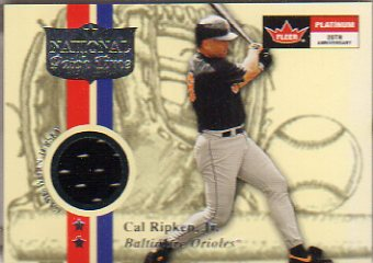 2001 Game Worn Jersey Fleer Platinum National Patch Time